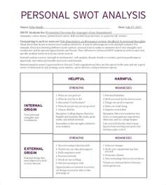 swot analysis template pdf personal swot analysis template 15 exles in pdf