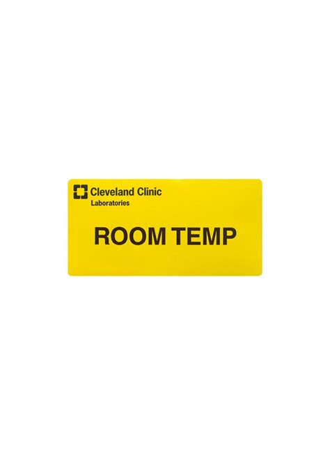 room temp regional hospital room temperature labels cleveland clinic laboratories