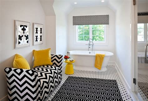 black and white bathroom accent color black and white bathrooms design ideas decor and accessories