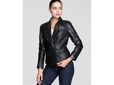 knit sleeve leather jacket marc new york asymmetric knit sleeve leather jacket in