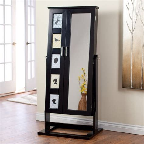 jewelry box armoire with mirror stand up mirror jewelry box