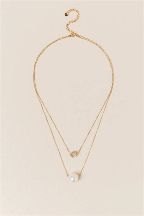 Pearl Layered Necklace adi freshwater pearl layered necklace s