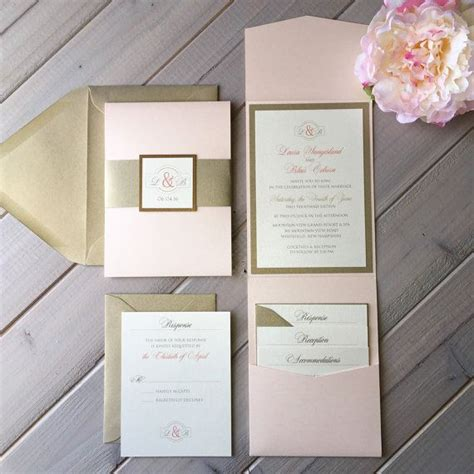 Cheap Gold Wedding Invitations by Best 25 Blush Wedding Invitations Ideas On