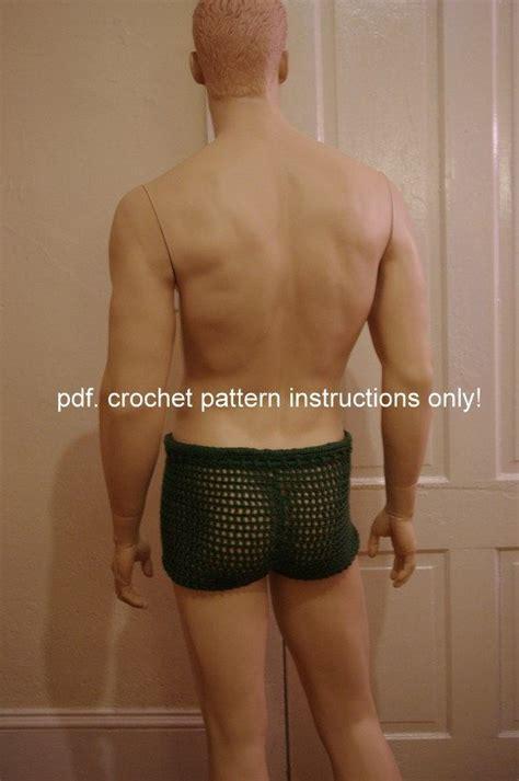pattern crochet mens shorts men s mesh shorts crochet pattern