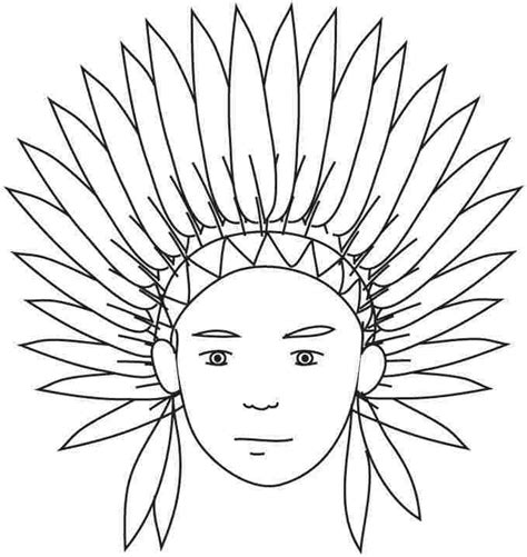 preschool indian coloring page free printable thanksgiving indian coloring pages for