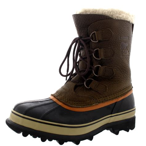 mens fur snow boots mens sorel caribou wi fur mid calf warm snow winter
