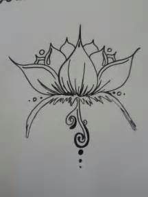 Lotus Simple Henna Lotus Design By Burdenarrow On Deviantart