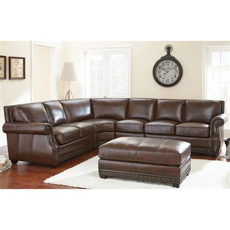 Silver Sectional Sofa by Steve Silver Henry Sectional Sofa With Optional Ottoman