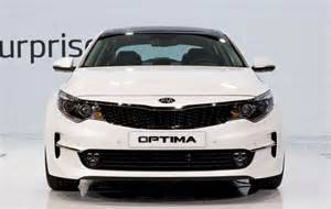White Kia Optima 2016 Kia Optima In White Color Live Photos From