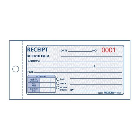 arco 60 00 receipt template rediform money receipt 2 part collection forms 8l820