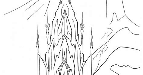 frozen coloring pages elsa ice castle coloring page frozen palace elsa frozen pinterest