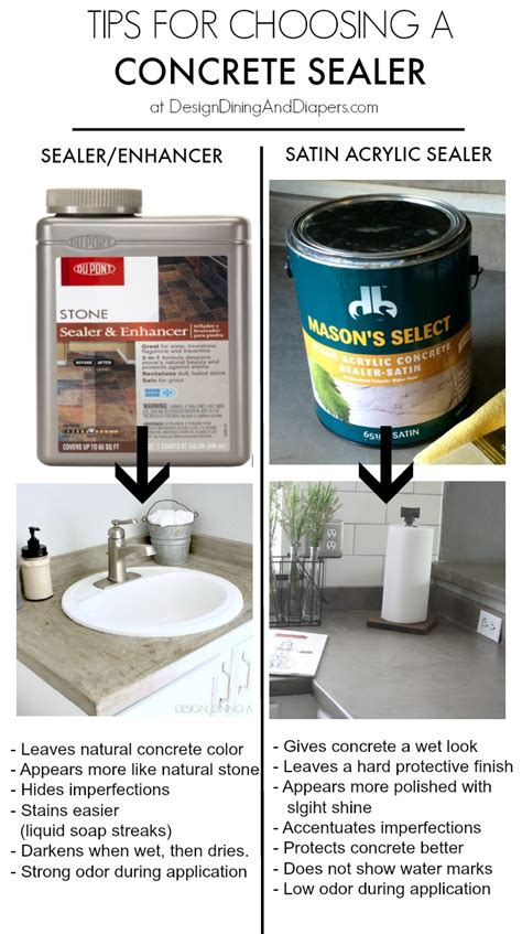 What Sealer To Use On Concrete Countertops by The 25 Best Concrete Countertop Sealer Ideas On