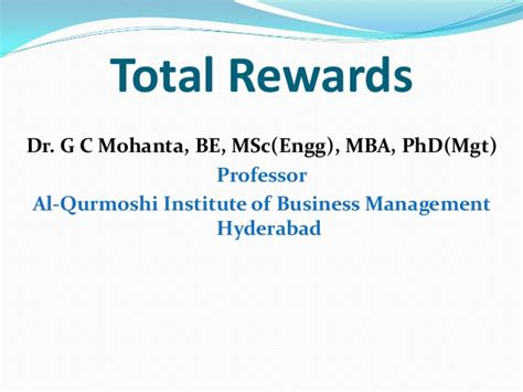 Business Administration Mba Definition by Concept Of Reward And Total Reward System