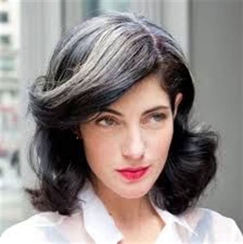 how to blend in gray roots of black hair with highlights 1000 images about going grey gracefully on pinterest