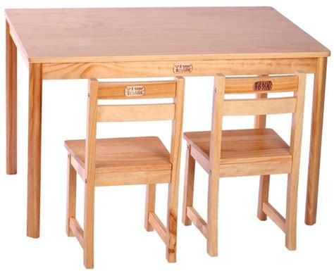 Childrens Wooden Table And Chairs by Table And Chairs Rectangle Wooden Table And 2