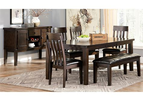 dining room side table ashley furniture dining room table furniture liquidators home center haddigan dark brown