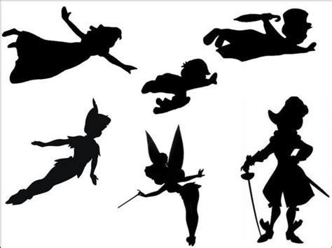 Peter Pan   Black Silhouette A4 Edible Fondant Icing