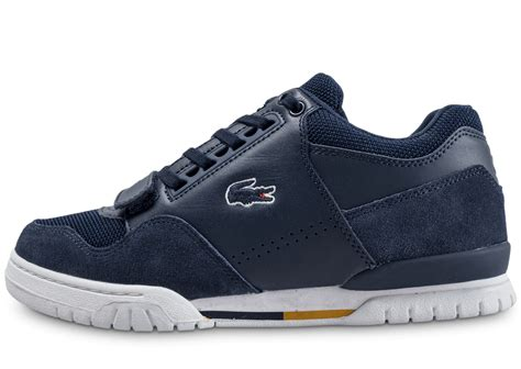 Chaussures Lacoste by Lacoste Missouri Bleu Marine Chaussures Baskets Homme Chausport