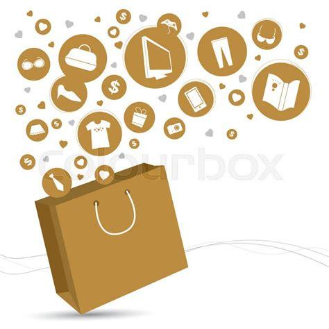 icon design store brunei vector shopping bag and fashion icon design stock vector