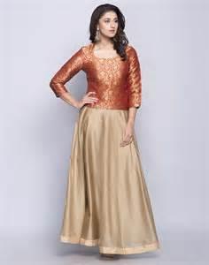 Buy fabindia golden silk cotton brocade top skirt set online