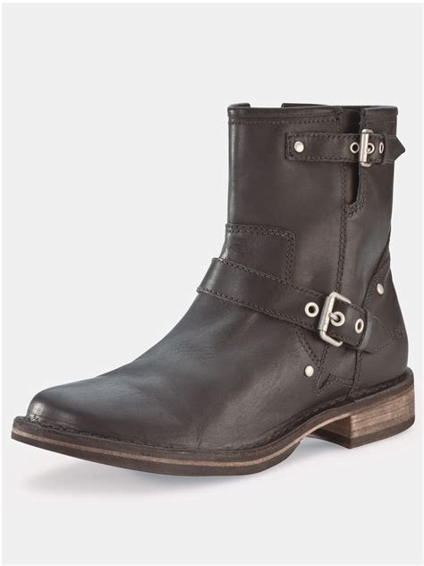 ugg ugg australia fabrizia leather ankle boots in brown