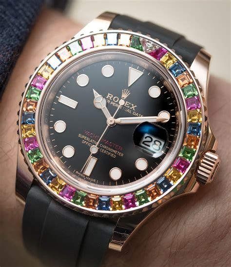 Rolex Giveaway 2017 - rolex yacht master 40 116695sats watch with gem set bezel hands on ablogtowatch