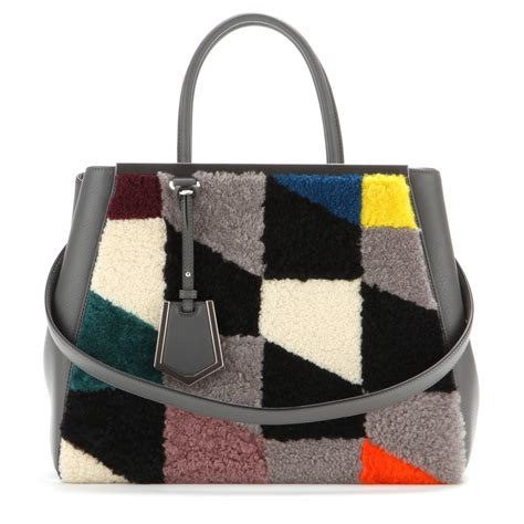 Fendi Shearling Shopping Chef Bag by Fendi Shearling Bags From The Fall Winter 2014 Collection