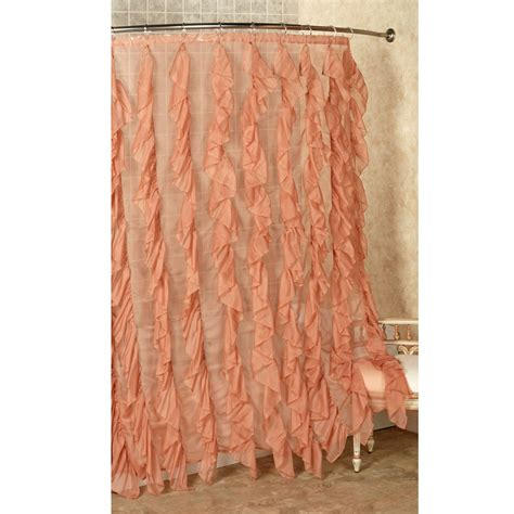 Cascade Ruffled Voile Shower Curtain