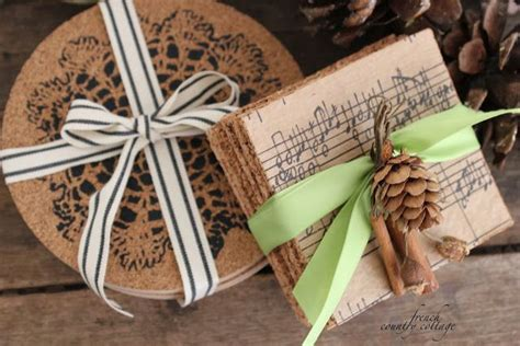 cork coasters diy gifts using cork plant protectors from