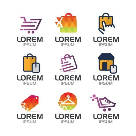 shopping logo collection vector