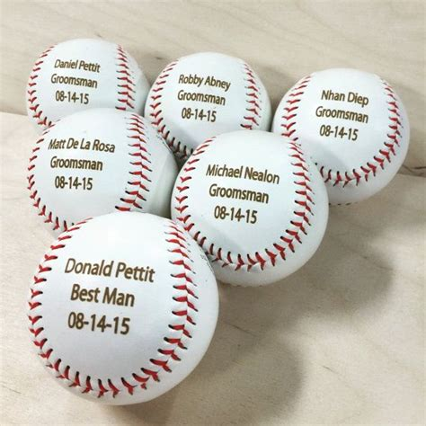 personalized baseballs wedding favors 25 best ideas about baseball wedding favors on