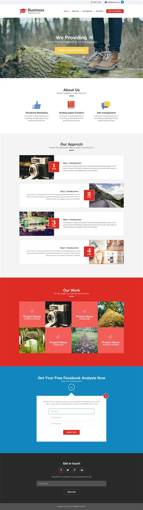 Agency Business Website Html Template Free Html5 Templates Business Website Templates Free