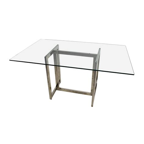 elm glass table 56 elm elm hicks glass top dining table