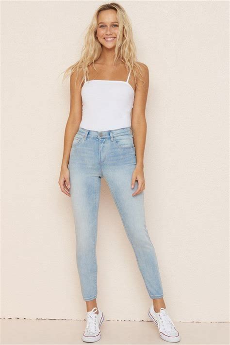 jegging  taille haute  images clothes mom jeans