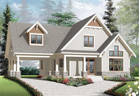 Graceful Porch And Carport 21992dr Architectural House Plans With Carport
