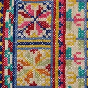 pattern folk cross stitch rug rugs folk and crosses