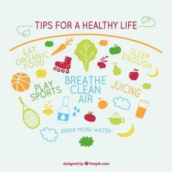 7 Tips On Living A Healthy Lifestyle by Healthy Vectors Photos And Psd Files Free