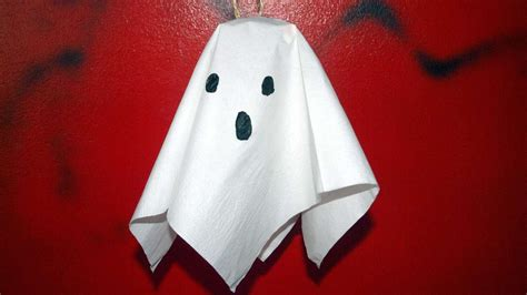 How To Make Paper Ghost For - how to make a hanging paper ghost diy crafts tutorial