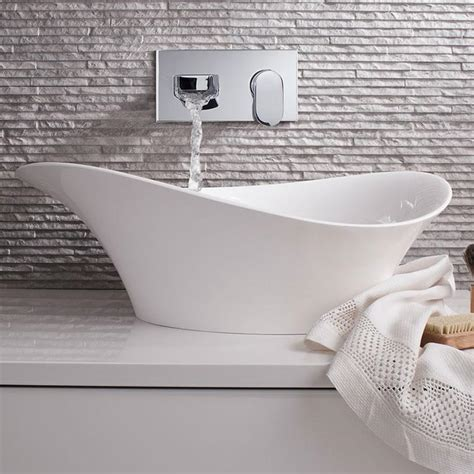 Countertop Wash Basins Uk by Bauhaus 560mm Countertop Cast Mineral Basin