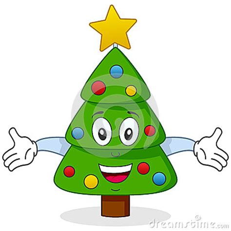 happy christmas tree character stock images image