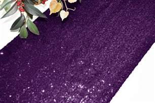 Eggplant Table Runners by Eggplant Sequin Table Runners Wholesale