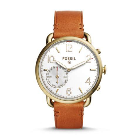 Fossil Unisex Brown fossil unisex q tailor hybrid smartwatch light brown