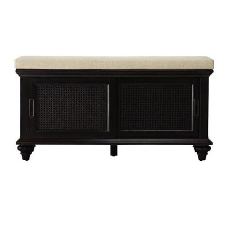 shoe storage home depot home decorators collection ansley 42 in w worn black shoe