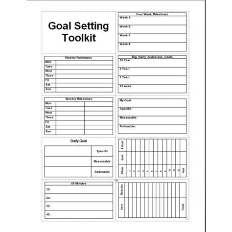 Goal Planning Template 8 goal setting freeware options for helping you meet all