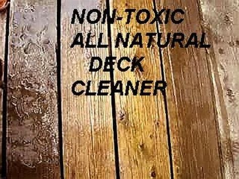 natural  toxic deck cleaner baking soda