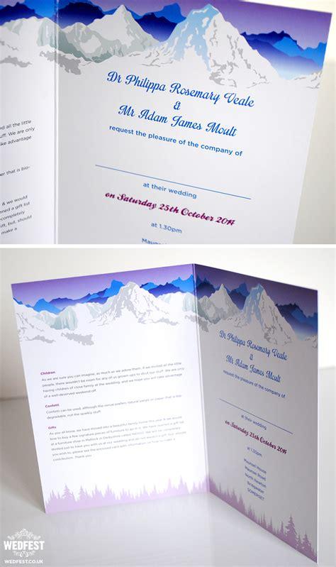 ski themed wedding stationery wedfest