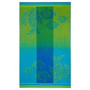 Towel 40 X 70 Green plush oversized towel peri tropicana bright orange