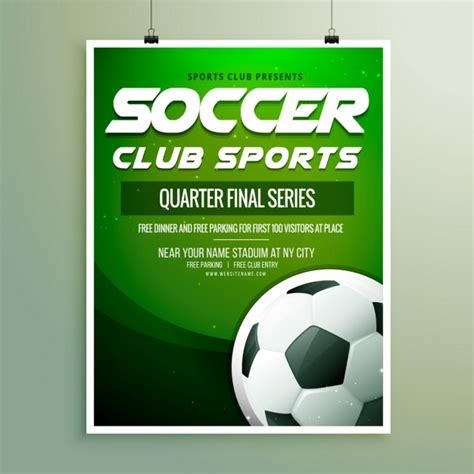 Soccer Chionship Flyer Template Vector Free Download Soccer Flyer Template Free