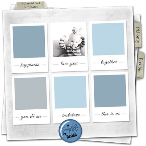 Polaroid Card Template by Free Polaroid 3x4 Card Templates For Project From