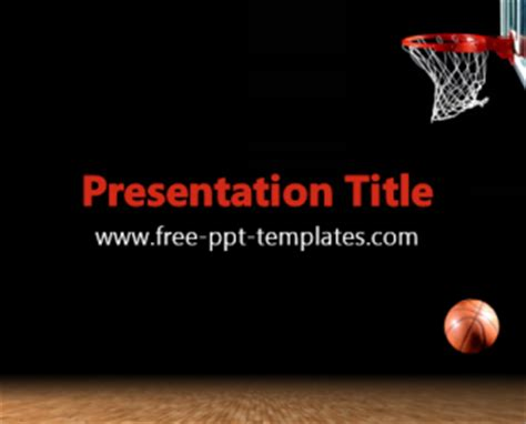 Basketball Ppt Template Free Powerpoint Templates Basketball Powerpoint Presentation